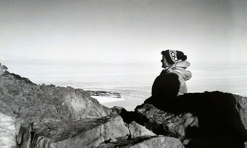 Ursula Marvin in Antarctica