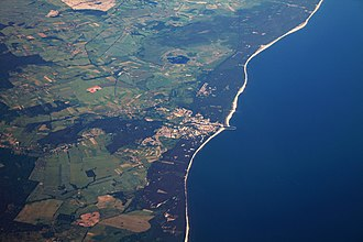 Ustka - The city as seen from a plane.
