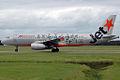 VH-VQP Airbus A320-232 Jetstar 'Gold Coast Titans' Logo-Jet (8749836728).jpg