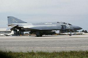 VMFA-122 - VMFA-122 F-4S at MCAS Cherry Point, 1 June 1985.