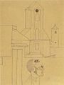 Vajda Lajos - Önarckép templommal 1935.jpg