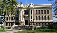 Valley County, Nebraska courthouse from W.JPG