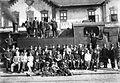 Vasútállomás a Szerb-Horvát-Szlovén királyság vasúti mozdonyával. Fortepan 22696.jpg