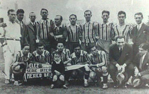 Club Atlético Vélez Sarsfield - Vélez before a match played in México City during the Pan-American tour of 1930–31.