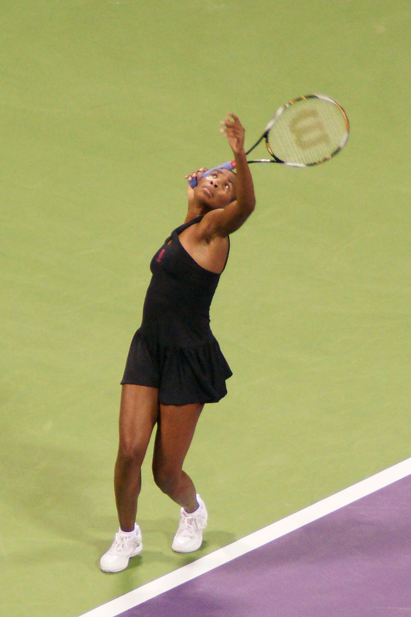 Venus Williams at the 2008 WTA Tour Championships.jpg
