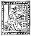 Vespucci at his desk, from Letter to Soderini (1505).jpg