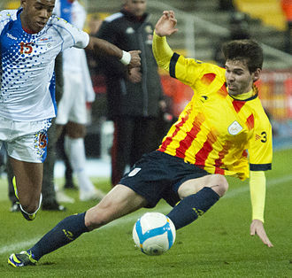 Víctor Álvarez (footballer) - Álvarez playing for Catalonia in 2013