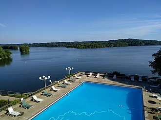 Lake Barkley State Resort Park - Image: View from Lake Barkley State Resort Park Lodge