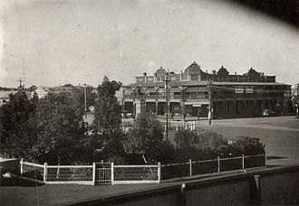 Kalgoorlie railway station - View from the station in May 1931