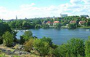 View from Skansen to Diplomatstaden.JPG