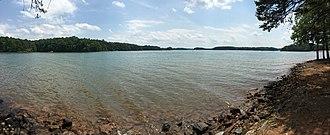 Smith Mountain Lake - View from shore of Smith Mountain Lake