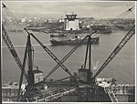 View from the northern abutment of the Sydney Harbour Bridge, 1928 (8283758502).jpg