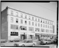 View northeast, south facade - Indiana Hotel, 5116 Hohman Avenue, Hammond, Lake County, IN HABS IND,45-HAMM,2-8.tif