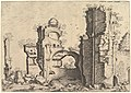 View of ruins, possibly the Baths of Caracalla, from the series 'The Small book of Roman ruins and buildings' (Operum antiquorum romanorum) MET DP828816.jpg