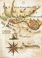 Vila de Olinda e Porto do Recife - Mapa de Luís Teixeira - c 1582-1585.jpg