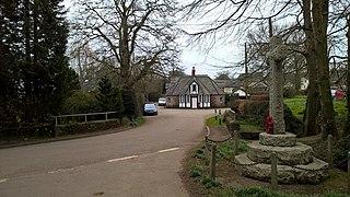 Huntsham village in the United Kingdom