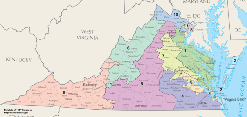 Virginia Congressional Districts, 113th Congress
