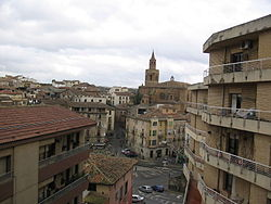 Vista de Barbastro con la catedral