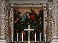 Viterbo, santa maria della quercia, interno, coro, altare cinquecentesco di pompeo e michele alberti 05.jpg