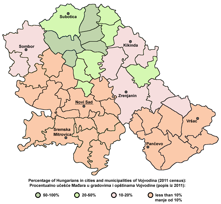 Vojvodina ethnic2011 hungarians