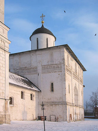 Volokolamsk - The Resurrection Cathedral, built during the 1460s, is one of the last limestone cathedrals in Russia