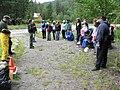 Volunteer school group at Trail of Shadows. slide (fd174288931d4ccd9767cfe886de6927).JPG