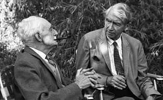 William George Constable - William George Constable (left) was Curator of the Boston Museum of Fine Arts for many years. Sir Herbert Read was a British art historian. They're pictured at a garden party in Lexington, Massachusetts.