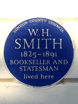 W. h. smith 1825 1891 bookseller and statesman lived here