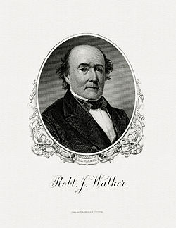 WALKER, Robert J-Treasury (BEP engraved portrait)