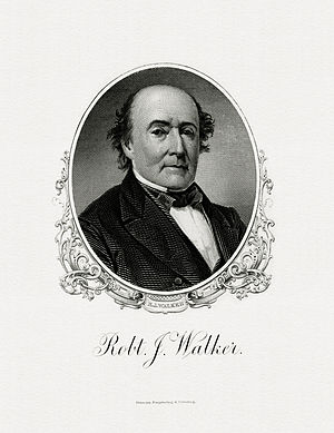Robert J. Walker - Bureau of Engraving and Printing portrait of Walker as Secretary of the Treasury.