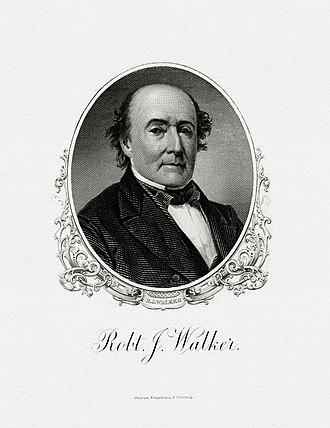 Robert J. Walker - Bureau of Engraving and Printing portrait of Walker as Secretary of the Treasury.
