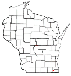 Location of Bohners Lake, Wisconsin