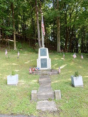 New Castle Township, Schuylkill County, Pennsylvania - Image: Wadesville War Memorial, New Castle Twp, Schuylkill Co PA 01