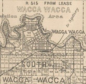 Wagga Wagga - Wagga CBD in 1897