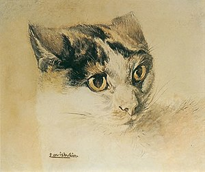 Louis Wain - A naturalistic cat from early in Wain's career