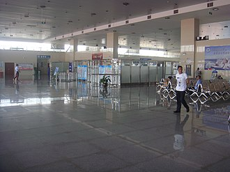 Haikou Port New Seaport - Image: Waiting area at Haikou Port New Seaport 02