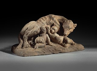 The Roman she-wolf with Romulus and Remus