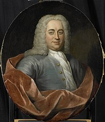 Portrait of Walter Senserff, Director of the Rotterdam Chamber of the Dutch East India Company, elected 1731