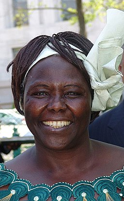 Wangari Maathai in 2001