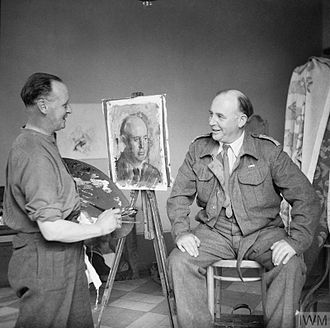 Henry Carr (artist) - Carr painting a portrait of Edward Ardizzone