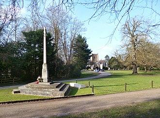 Wargrave War Memorial - Image: War Memorial & Parish Church geograph.org.uk 3362494