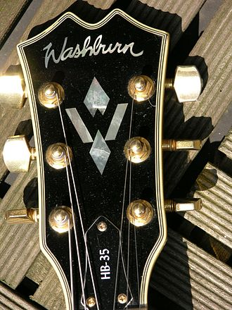 Inlay (guitar) - Typical headstock inlay
