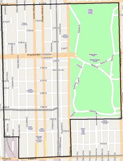 Douglas Park Chicago Map.Washington Park Chicago Community Area Wikipedia