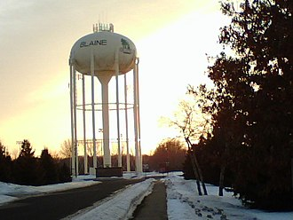 Public water system - Water towers are used to store water at a height sufficient to pressurize a water supply distribution system