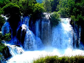 Waterfall on Una river in Martin Brod.jpg