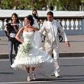 Wedded couple on Pont Alexandre-III, Paris 3 October 2010.jpg