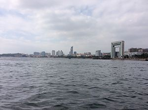 Weihai - Weihai skyline as viewed from the sea
