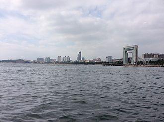 Weihai - Weihai skyline as viewed from the sea