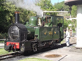 Welshpool and Llanfair Light Railway - Countess basks in the sunshine at Welshpool