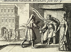 Abimelech rebuking Abraham by Wenceslas Hollar...